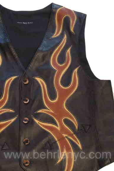 custom made leather vest
