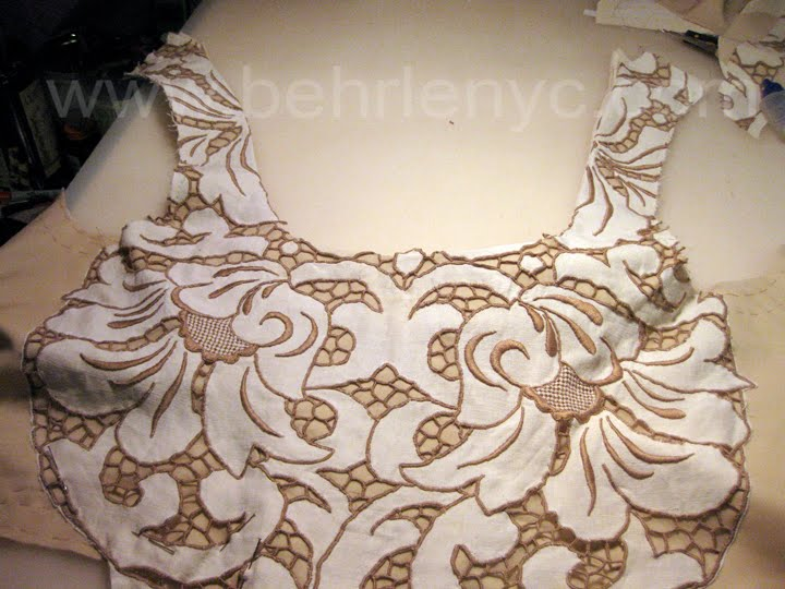 Cutwork Linen Wedding Dress Part 4