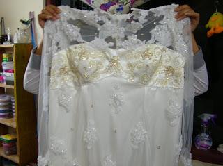 Payet Gaun Pesta: Jilbab Modern/ Hijab untuk gaun akad