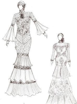 Desain Gaun Pengantin Muslim, Gaun Akad ber-Jilbab.
