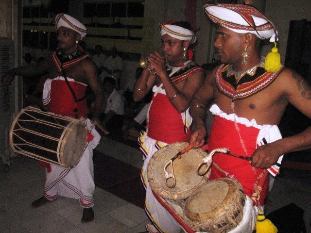 Sri Lankan dancers at SKE 1st day Wesak chanting