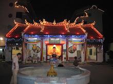 Night scene of temple before Wesak Day
