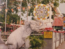 Wesak Day temple decorations in 1995
