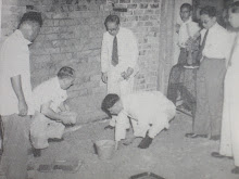 Laying the foundation stone of the new shrine hall
