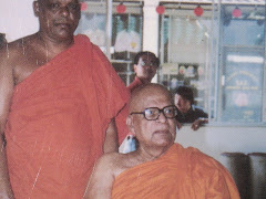 With Late Rev. Kirinde Dhammananda Nayake Thero