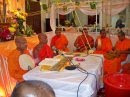 The monks conducting the all night chanting
