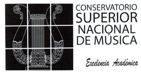 CONSERVATORIO SUPERIOR NACIONAL DE MUSICA