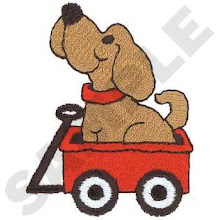 Puppy in Wagon