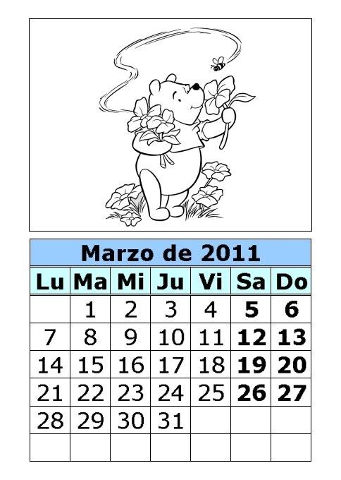 calendario 2011 para imprimir. Para imprimir Estos das de