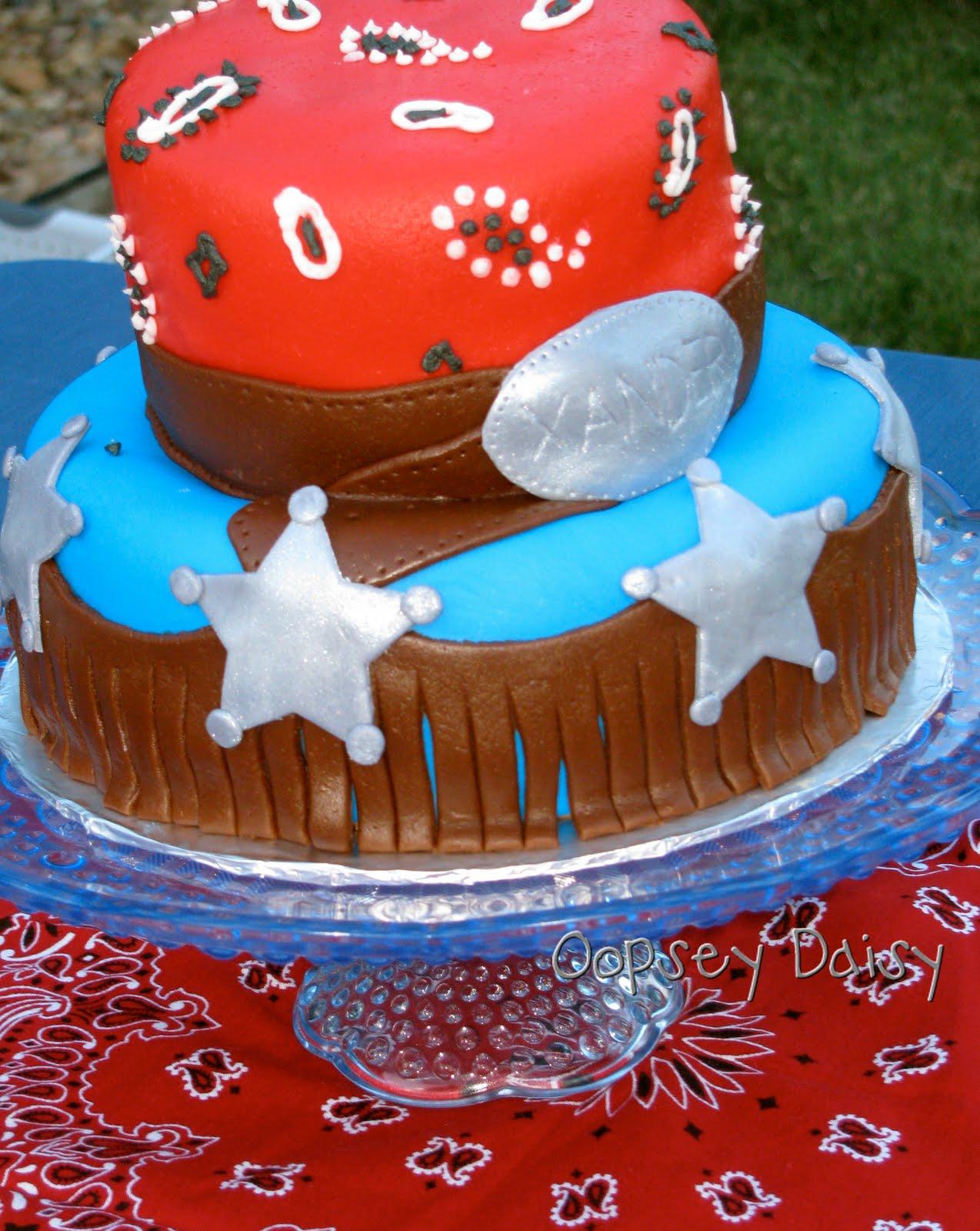 Cowboy birthday party cakes