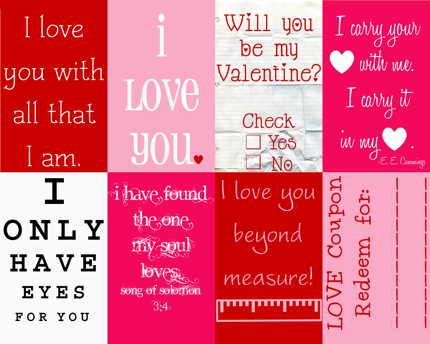 I created these cute printable love notes to do just that. At the end of the post there is a link to download the cute printable envolopes and little note card to go inside. On the note, there is a spot to write fourteen things you love about the person you are goving it rallfund.cf is such a perfect way to show a loved one just how much you love them!