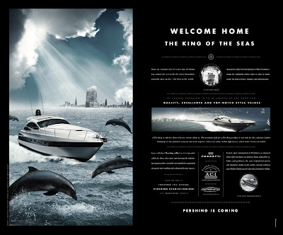Pershing Luxury Yacht: History Advertising Agency: Tonnit Design, Dubai, UAE