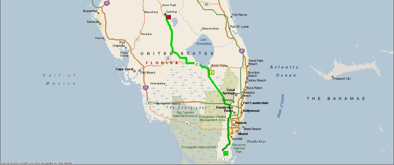 Sebring Florida Map.Roving Reports By Doug P 2010 08 Florida City To South Bay To