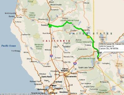 Roving Reports by Doug P 392009 Redding California to Carson City