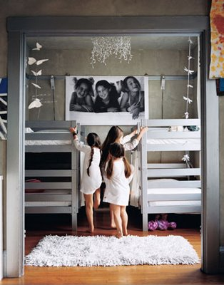 Ikea bunk beds that have been painted : Ohdeedoh