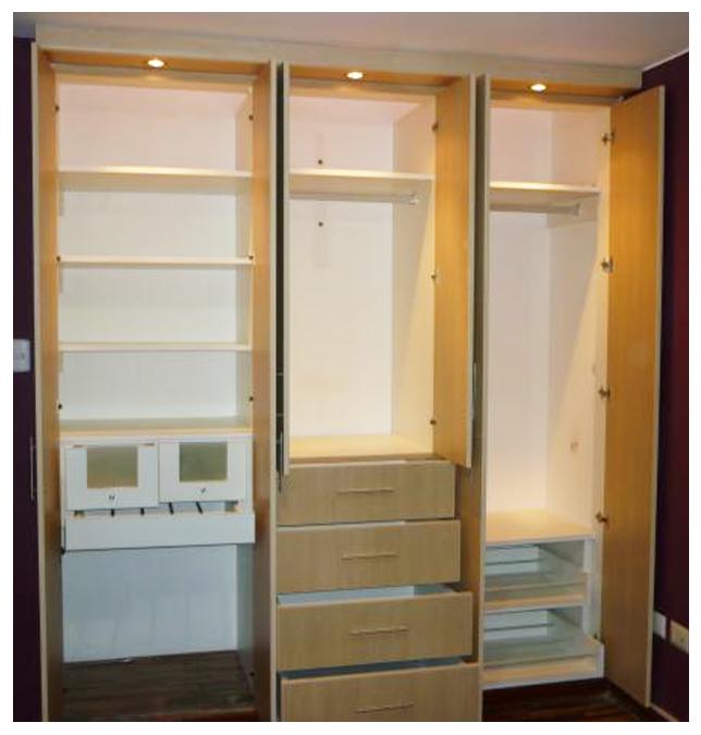 Muebles decoratiba adolfo ibarra v closet en melamina for Closet melamina