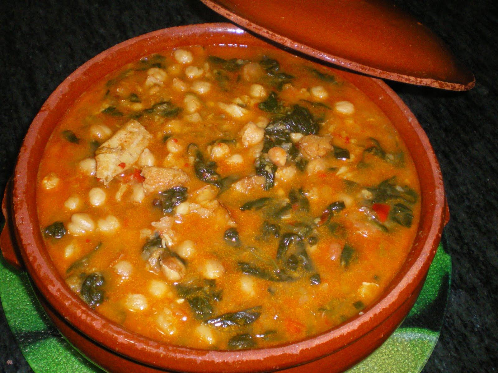 Mi cocina de dieta garbanzos con bacalao - Bacalao con garbanzos y patatas ...