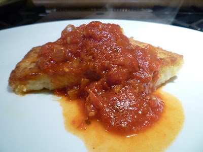 sauce fresh pappardelle with tomato and basil sauce pan seared polenta ...