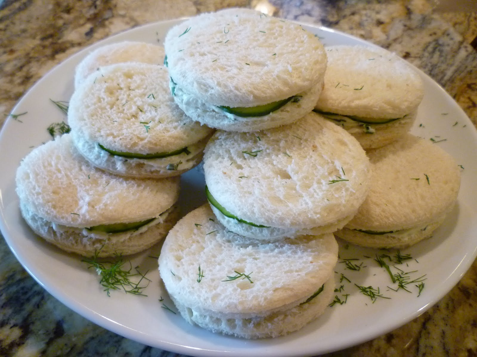 The Chef In My Head: Chive Cream Cheese and Cucumber Tea Sandwiches