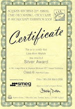 Silver Award for my Rich Fruit Cake - Squires Kitchen 2008