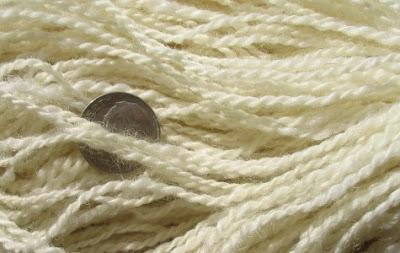 White adult Shetland yarn.