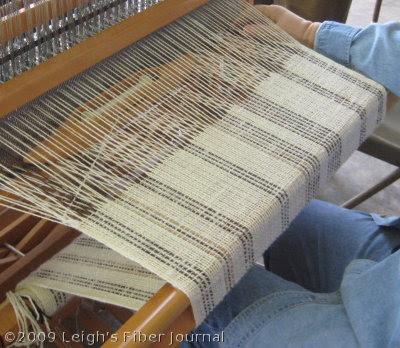 Plain weave shawl in progress