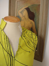 Top lino estampado amarillo