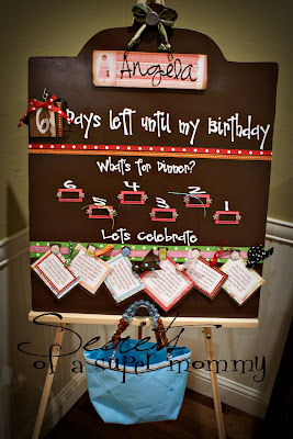 The birthday countdown board
