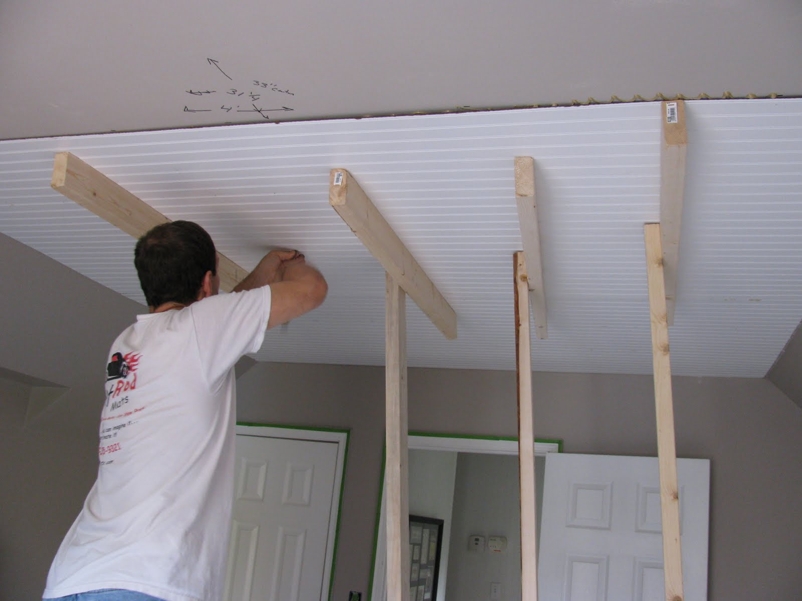 Our Creative Life: Beadboard on the Ceiling...are you serious?