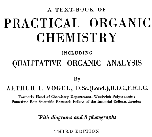 Practical of organic chemistry
