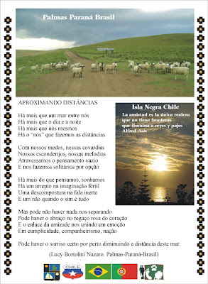 Lucy Bortolini Nazaro Poesia Aproximando Distâncias Projeto de Alfred Asis Chile