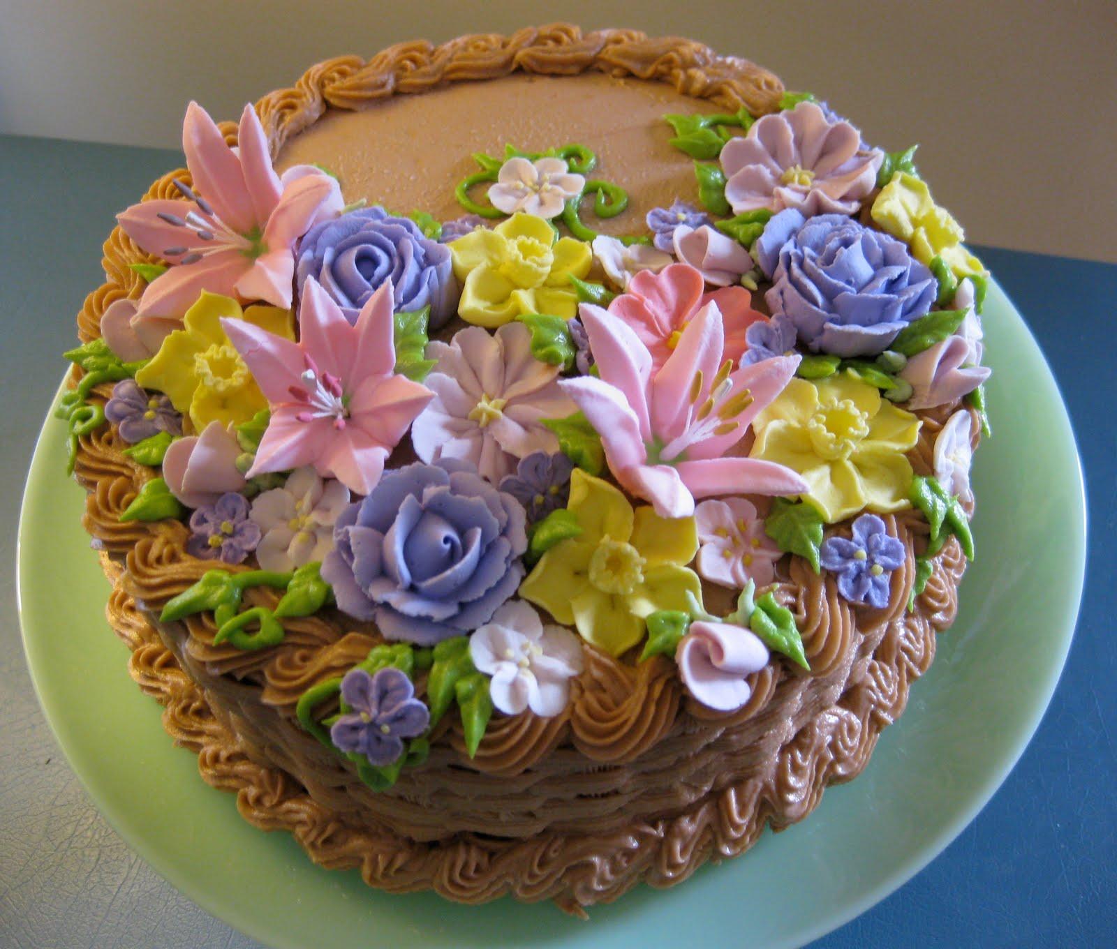 Flower Basket Mothers Day Cake : Stuffed cakes floral basket cake