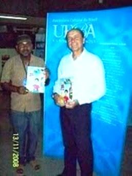 Magnífico Reitor da UFBA, no SEMINÁRIO INTERATIVO (Exposição dos Livros AFRO-INDÍGENAS-2008)
