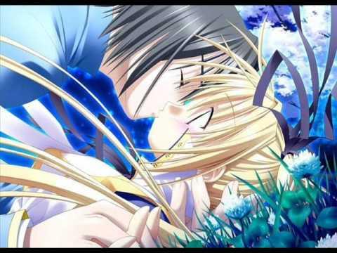 anime couples kiss. cute anime couples kiss.