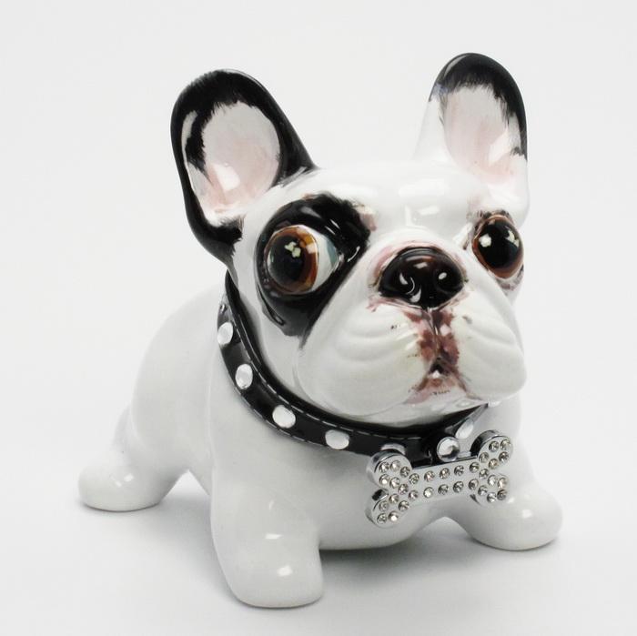Madamepommcustomorder French Bulldog Piggy Bank Django
