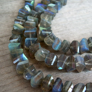 faceted labradorite beads