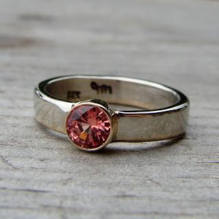 paparadascha sapphire ring