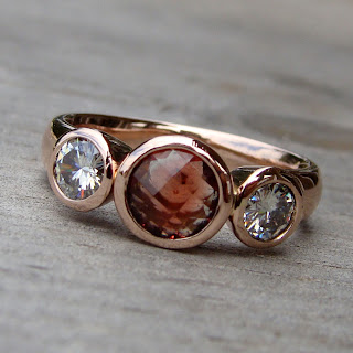 rose gold sunstone ring