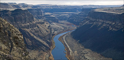 Palouse River Canyon - view looking north