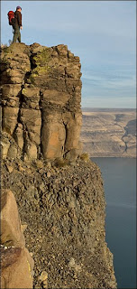 Wallula Gap summit above the Columbia River.