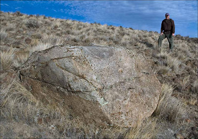 Large Schnebly Coulee ice-rafted erratic.
