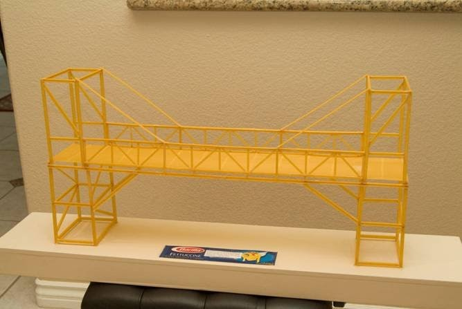 bonnie 39 s blog 3d design for k 12 and beyond another bridge this one made from pasta. Black Bedroom Furniture Sets. Home Design Ideas