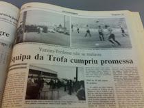 O dia de jogo com o Varzim 8 de Setembro de 1993
