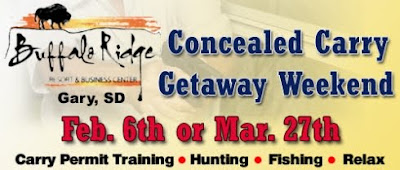 Concealed Carry Getaway Weekends, Feb 6 & Mar 27, 2010, Buffalo Ridge Resort, Gary, SD