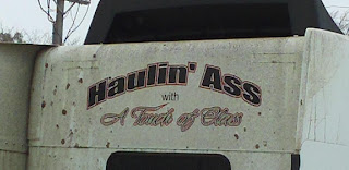 truck logo: Haulin' Ass with a Touch of Class