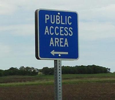 Public Access sign