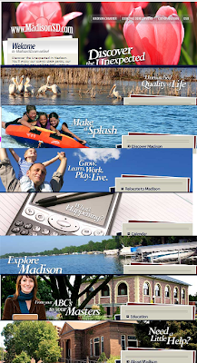 banner images from MadisonSD.com, 2010.07.07