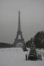 París bajo la nieve