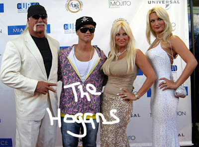 Hulk,Nick,Linda and Brooke Hogan
