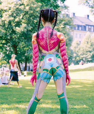 Weird Japanese Women Body Painting